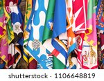 siena  italy   july 16  flags... | Shutterstock . vector #1106648819
