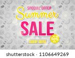 summer sale   concept of glossy ... | Shutterstock .eps vector #1106649269
