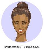 portrait of beautiful african... | Shutterstock .eps vector #110665328