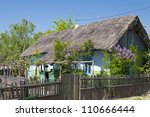 old house in letea village ... | Shutterstock . vector #110666444