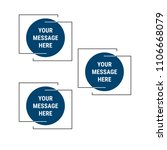 modern infographic template   Shutterstock .eps vector #1106668079