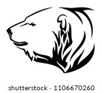 polar bear  ursus maritimus ... | Shutterstock .eps vector #1106670260
