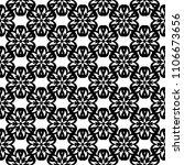 black floral ornament on white... | Shutterstock .eps vector #1106673656