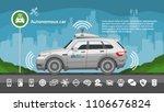 autonomous driverless car... | Shutterstock .eps vector #1106676824