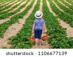 happy adorable little kid boy... | Shutterstock . vector #1106677139