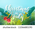 christmas in july sale design... | Shutterstock .eps vector #1106680190