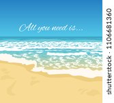 summer greeting beach view with ... | Shutterstock .eps vector #1106681360