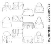 set of different bags  men ... | Shutterstock .eps vector #1106689733