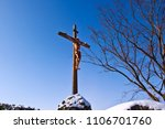 snowy open air cathedral  cross ...