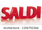 sale with reflection in italian.... | Shutterstock .eps vector #1106702366
