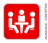 conference icon. people sitting ... | Shutterstock .eps vector #1106707544