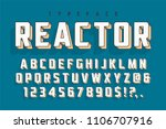 reactor retro display font... | Shutterstock .eps vector #1106707916