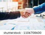 business people colleagues... | Shutterstock . vector #1106708600
