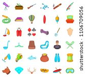 floating icons set. cartoon... | Shutterstock . vector #1106709056