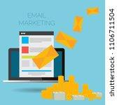 email marketing vector... | Shutterstock .eps vector #1106711504