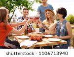 young people with glasses of... | Shutterstock . vector #1106713940