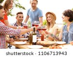 young people with glasses of... | Shutterstock . vector #1106713943