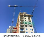 High Rise Building With Cranes...