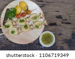 grilled squid with garlic and...   Shutterstock . vector #1106719349