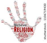 vector conceptual religion  god ...   Shutterstock .eps vector #1106719430