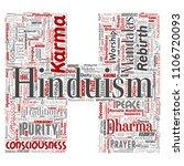 vector conceptual hinduism ... | Shutterstock .eps vector #1106720093