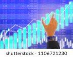 businessman on digital stock... | Shutterstock . vector #1106721230