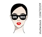 girl boss. fashion girl with... | Shutterstock .eps vector #1106723159