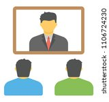 flat icon video conferencing ... | Shutterstock .eps vector #1106724230