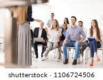 young people having business... | Shutterstock . vector #1106724506