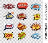 set of comic speech bubbles.... | Shutterstock .eps vector #1106727320