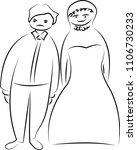 a couple cartoon drawing ... | Shutterstock .eps vector #1106730233