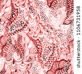 seamless watercolor wave hand...   Shutterstock . vector #1106731958