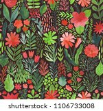 watercolor texture with flowers ...   Shutterstock . vector #1106733008