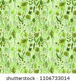 watercolor texture with flowers ...   Shutterstock . vector #1106733014