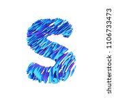 alphabet letter s uppercase.... | Shutterstock . vector #1106733473