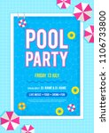 pool party invitation poster... | Shutterstock .eps vector #1106733800