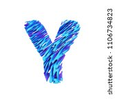 alphabet letter y uppercase.... | Shutterstock . vector #1106734823