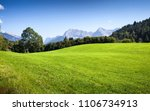 green alpine meadow in sunny...   Shutterstock . vector #1106734913