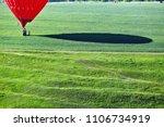 air balloon on green meadow in...   Shutterstock . vector #1106734919