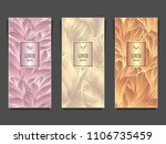 set template for package or... | Shutterstock .eps vector #1106735459