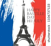 happy bastille day greeting... | Shutterstock . vector #1106737133