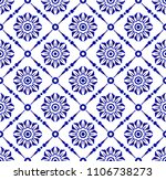 seamless porcelain floral... | Shutterstock .eps vector #1106738273