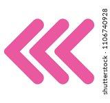 directional left arrow with... | Shutterstock .eps vector #1106740928
