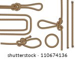 rope with different knots part... | Shutterstock .eps vector #110674136