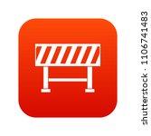 traffic barrier icon digital... | Shutterstock . vector #1106741483