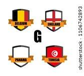 set of football badge vector...   Shutterstock .eps vector #1106742893