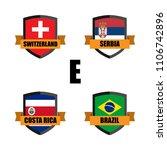 set of football badge vector...   Shutterstock .eps vector #1106742896