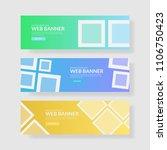 3 set ui pastel color banner...