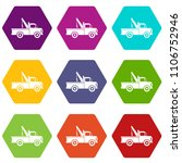 car towing truck icon set many... | Shutterstock . vector #1106752946