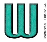 Beveled Teal Wood Letter W In A ...